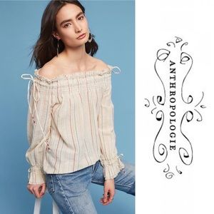 Anthropologie Love Sam Azalea Off Shoulder Blouse